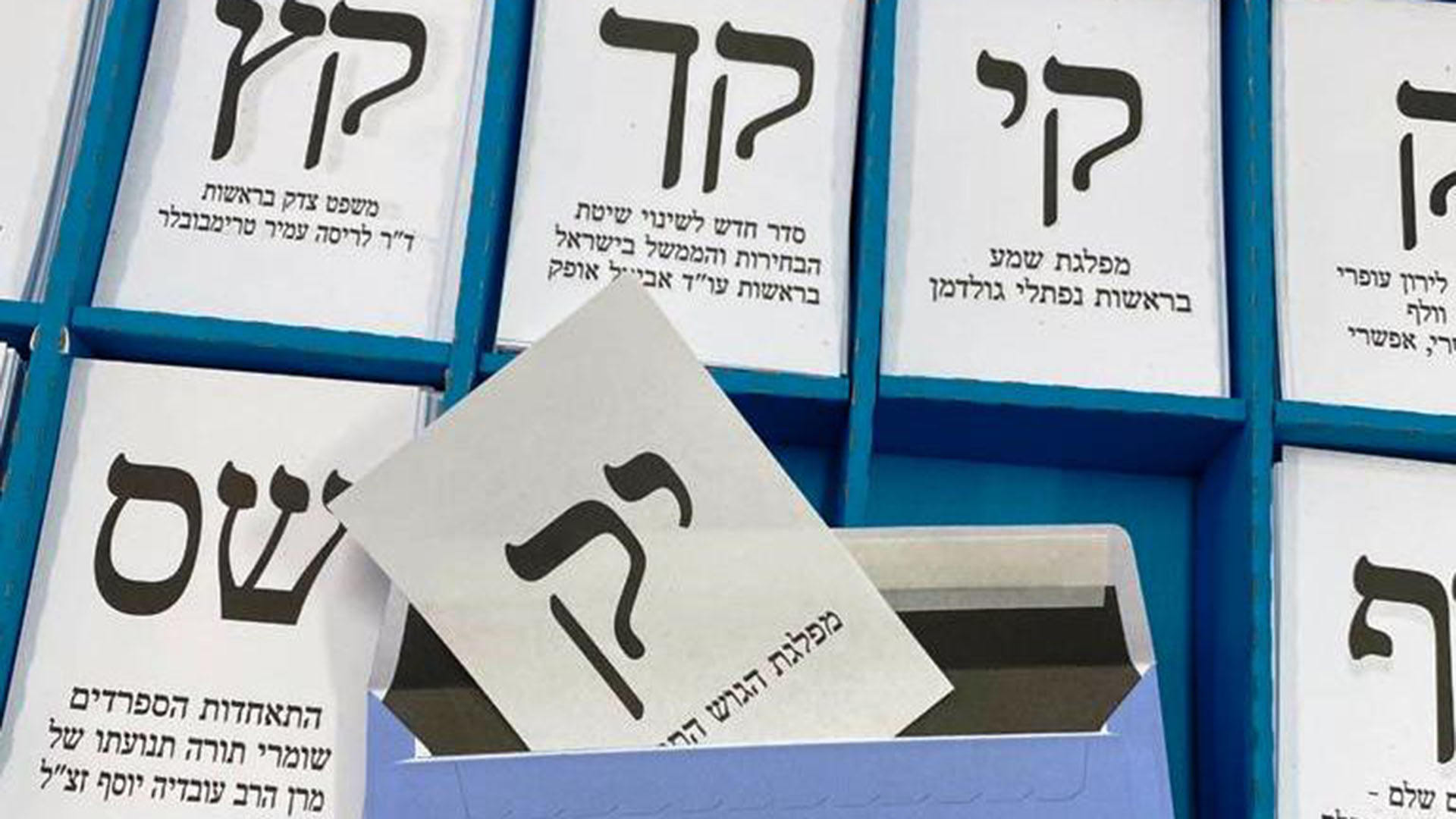 Knesset Elections and a Super Tanker